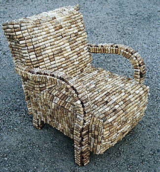Creative Uses for Wine Corks - Chair