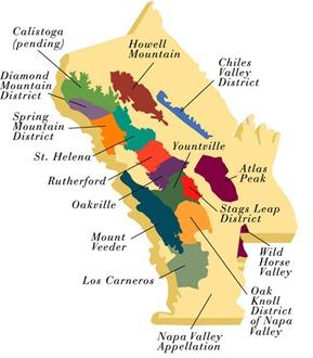Napa Valley Wine Map
