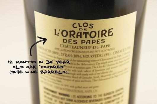 Ogier Clos de L'Oratoire Chateauneuf du Pape, Southern Rhone, France.