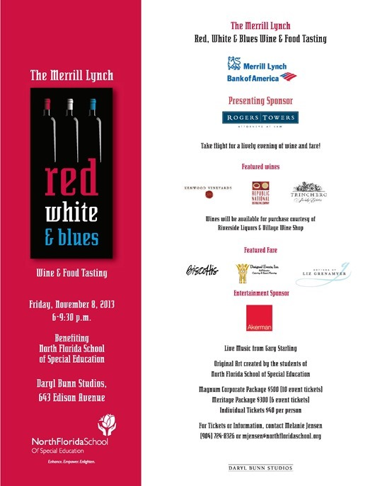 Red, White & Blues - A Food and Wine Tasting
